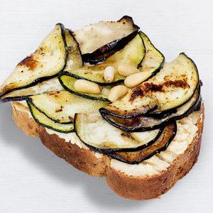 Duran Sandwiches - Grillgemüse auf Humus