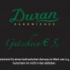 Duran Gutschein 5€